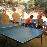 Campamento en Indiana, ping-pong
