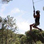 Volando con la liana de Tarzán